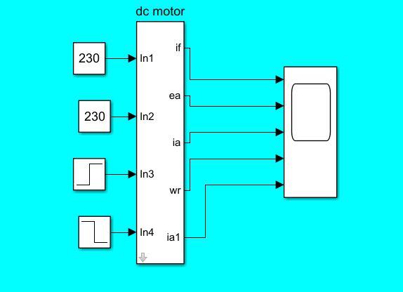 شبیه سازی ماشین دی سی شنت