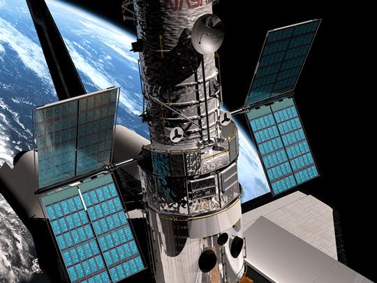 پنل خورشیدی در فضاپیما