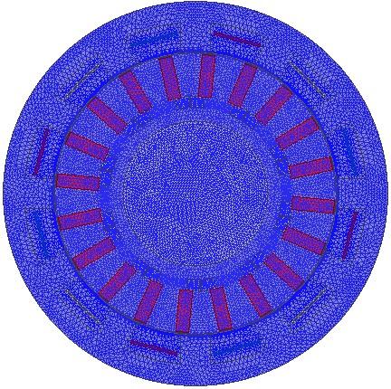 مش بندی ساختار دوبعدی از موتور ورنیر مغناطیس دائم با ساختار اولیه