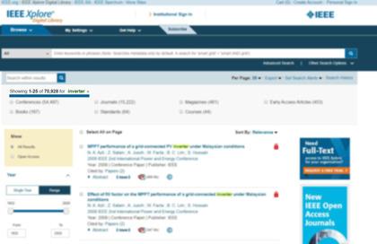 تاکنون 71هزار مقاله در زمینه اینورتر در IEEE ثبت شده است