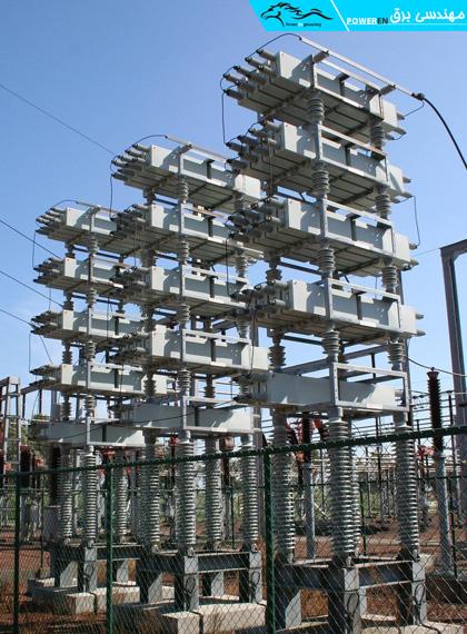 نمونه از خازن های نصب شده در شبکه