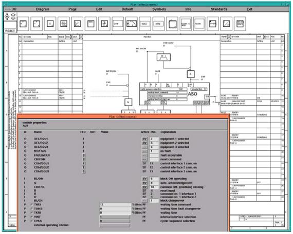 نمایی از محیط نرمافزار FUP Editor