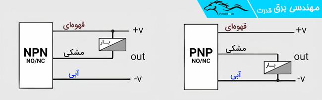 نحوه اتصال PNP و NPN
